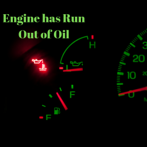 engine has run out of oil