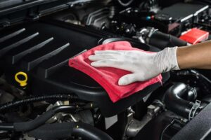 clean the engine bay without water